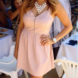 Zara Faux Leather Pink Dress